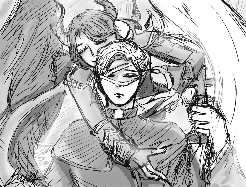 [Speed painting] 아자젤x가고일